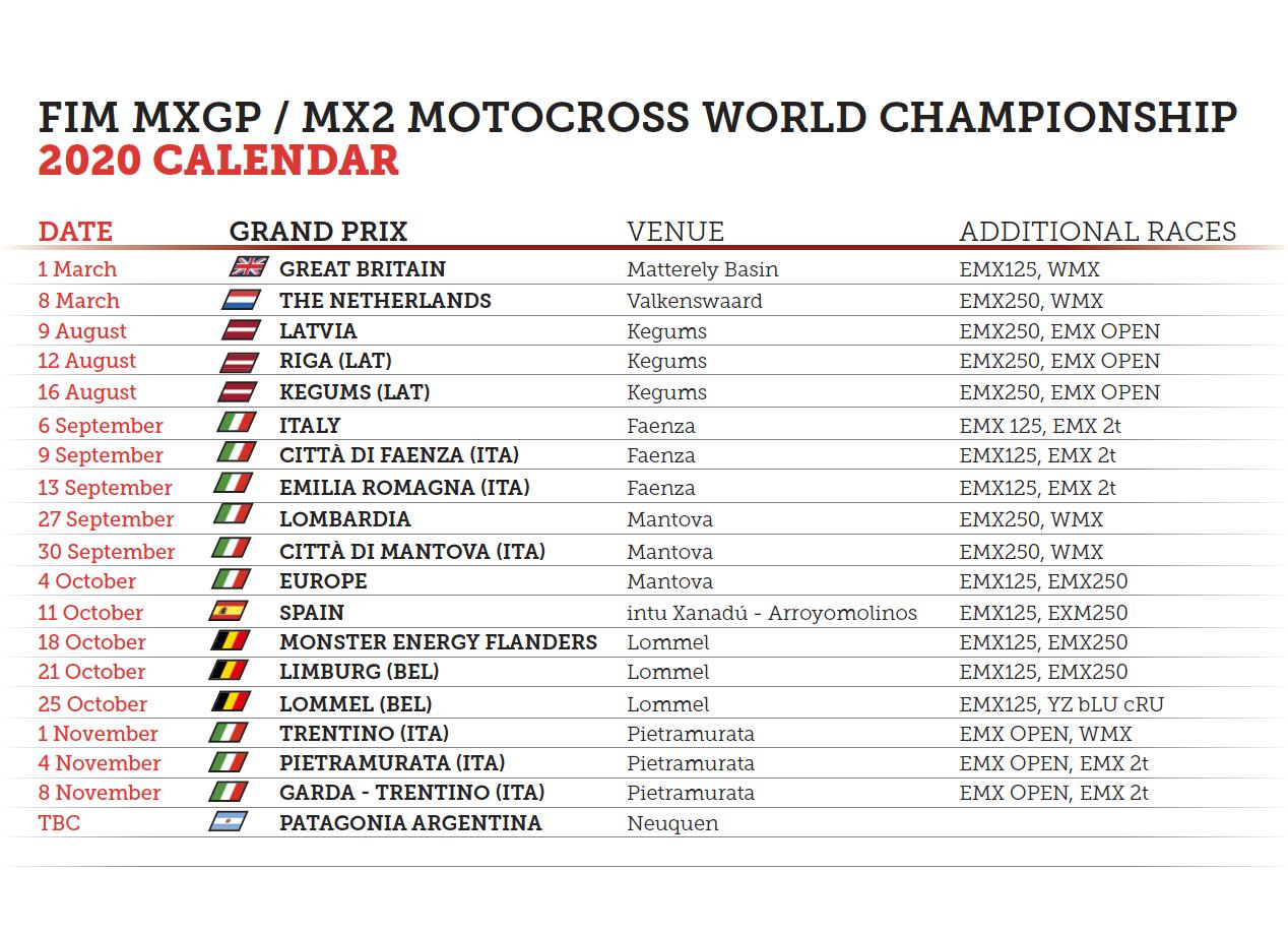 Calendar update !!!